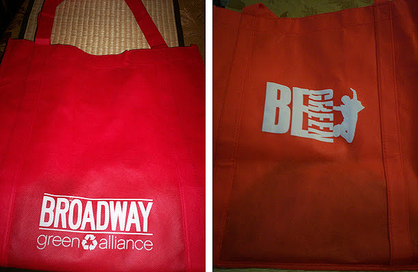 Broadway Green Alliance bags
