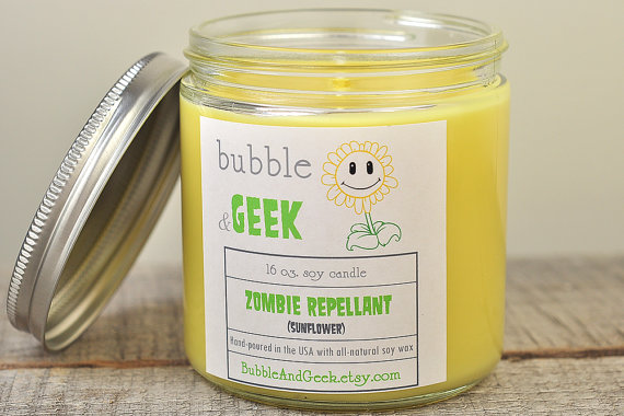 Something cute: Zombie Repellant Soy Candle