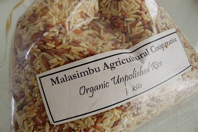 Organic rice by Malasimbu Agricultural Cooperative