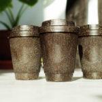 Berlin company Kaffeeform is turning coffee grounds into coffee cups