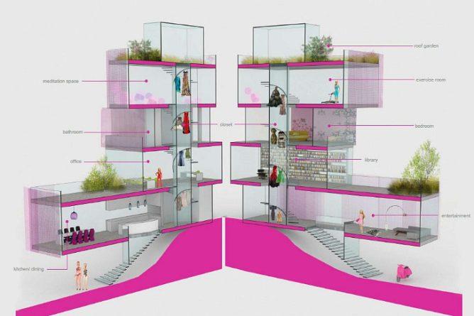 Architect Barbie's dream house