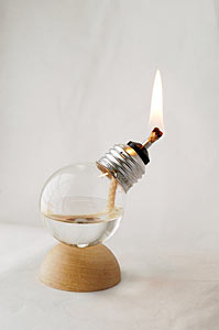 Recycled Light Company, Recycled Light Bulb Oil Lamp